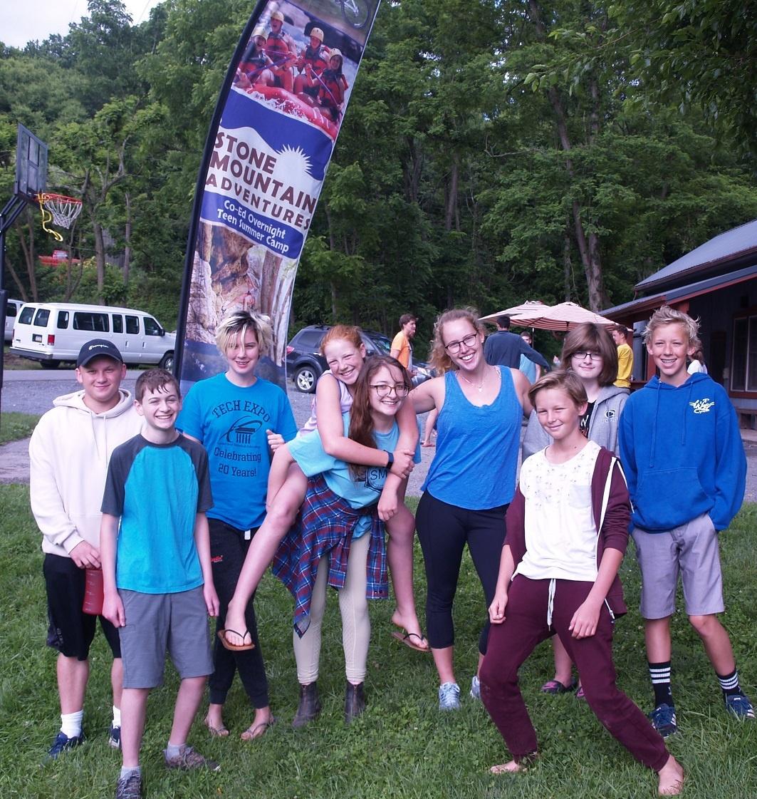 Camp coed summer teen